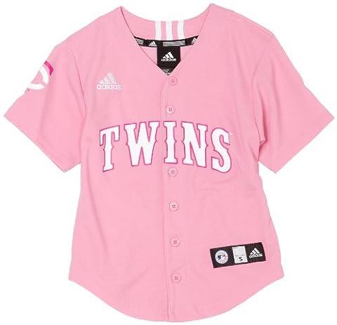 MLB Minnesota Twins Bildschirm Print Baseball Jersey Mädchen, Mädchen, rose