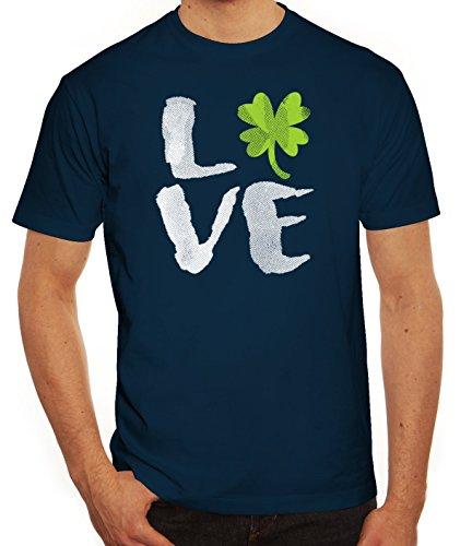 Saint Patrick´s Day St. Patricks Day Herren T-Shirt Love St. Patricks Day Dunkelblau