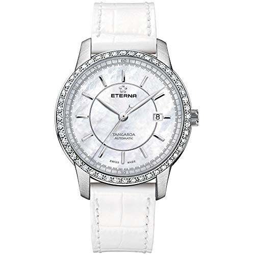 Eterna Women's White Leather Band Steel Case Automatic Watch 2947-50-61-1293