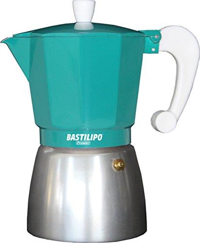 Bastilipo Colori 6 Cafetera, Aluminio, Esmeralda