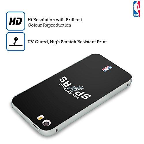 Ufficiale NBA Rovinato San Antonio Spurs Argento Cover Contorno con Bumper in Alluminio per Apple iPhone 5 / 5s / SE Semplice