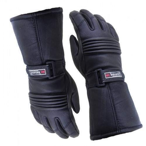 Australian Bikers Gear termico invernale da uomo, in pelle Etichettato impermeabile inserti Thinsulate guanti da moto XS