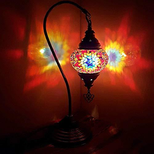 NEU SPECIAL - Türkisch Lampe / Marokkanische Lampe Tiffany Stil Glas Schreibtisch Tisch Lampe - W1 -