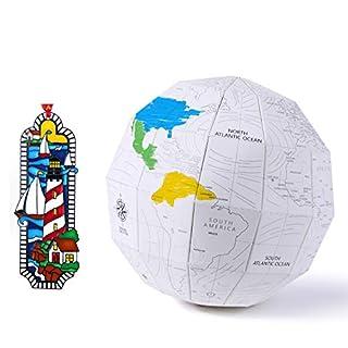 DIY Papierkugel und handbemalte Emaille-Lesezeichen für Lernspielzeug
