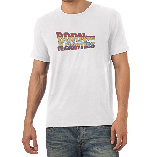 TEXLAB - Born in the 80ies - Herren T-Shirt Weiß