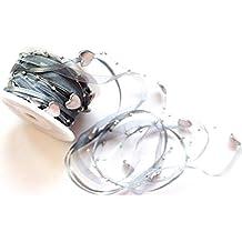 CaPiSo /® 5m Trendyband Organza Schleifenband mit Rosen und Perlen 5m Helles Rosa
