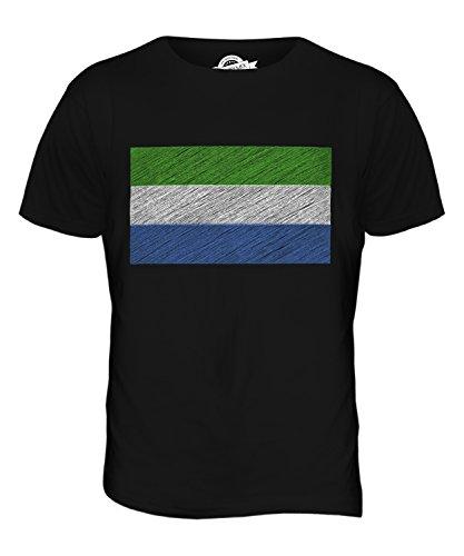 CandyMix Sierra Leone Kritzelte Flagge Herren T Shirt Schwarz