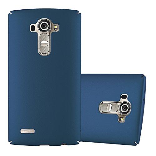 Cadorabo Hülle für LG G4 - Hülle in Metall BLAU – Hardcase Handyhülle im Matt Metal Design - Schutzhülle Bumper Back Case Cover