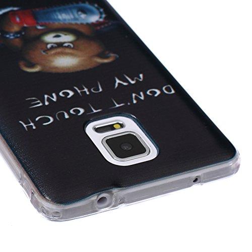 Ekakashop Coque pour Samsung Galaxy Note 4, Ultra Slim-Fit Flexible Souple Housse Etui Back Case Cas en Silicone pour Galaxy Note 4, Soft Cristal Clair TPU Gel imprimée Couverture Bumper de Protection ours brun