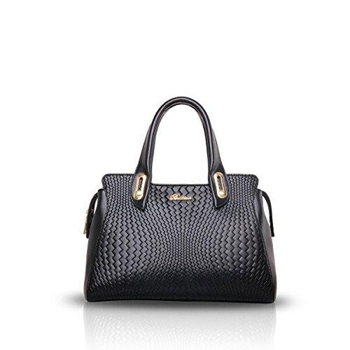 NICOLEDORIS-New-WomenLadies-Handbag-Shoulder-Crossbody-Tote-Bag-Fashion-Woven-Embossed-Pattern
