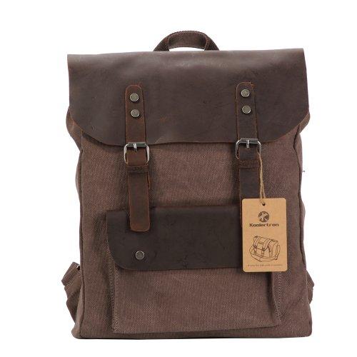 borsa zaino uomo tela forte a spalla molto bello alla moda, alta qualita', colore caffe' marrone (caffè)