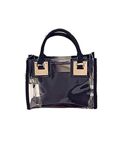 Nero Pvc sacchetto Donna Honeymall di ed in trasparente Oro plastica Borse impermeabile R1xqB7P