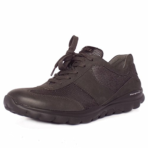 Gabor Rolling Soft Helen Plus Large Fit Sneaker Chaussures Femme Anthracite Anthracite