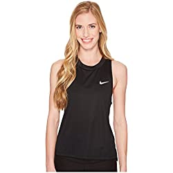 Nike W Nk Miler Tank T-Shirt, Women, Black, XS