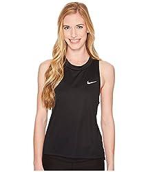 Nike Women Dry Miler Tank - Black(reflective Silver), Xs