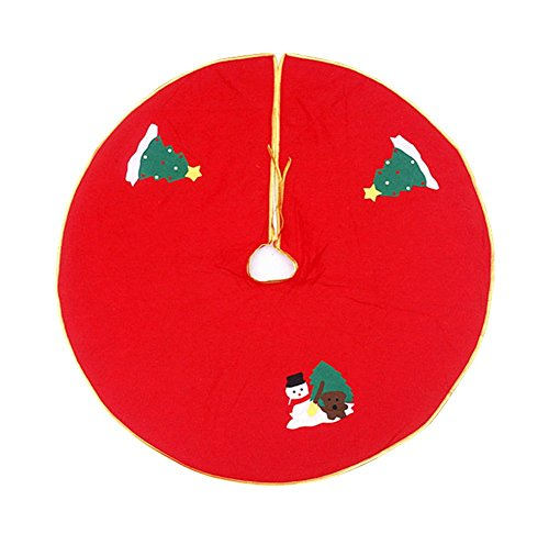 Ruikey 35-Inch Falda árbol Navidad Cubierta base