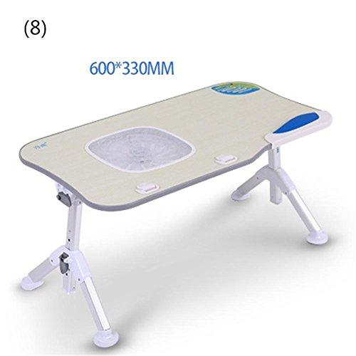 Muzyo Laptopständer Multifunktions Höhenverstellbar Lapdesk Bett Computer Schreibtisch Klapp Tilt Einstellen Faule Menschen Laptop Tisch Student Notebook Stand, - Bett-tisch Tilt