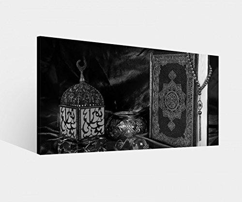 Leinwandbild Türkei Koran Buch rot türkisch Islam arabische Schrift schwarz weiß Leinwand Bild Bilder Wandbild Holz Leinwandbilder vom Hersteller 9W1563, Leinwand Größe 1:80x40cm