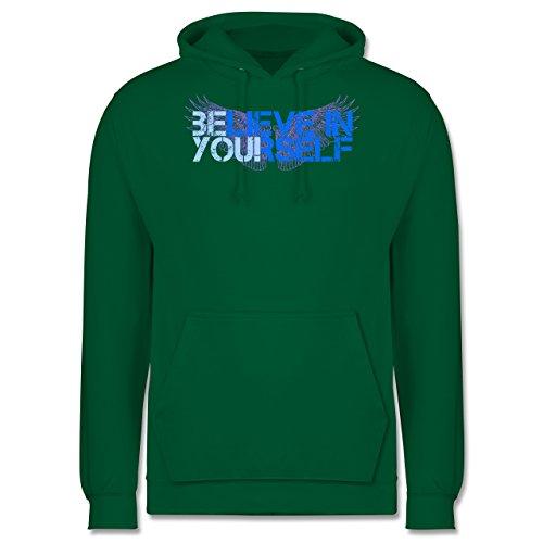 Statement Shirts - BElieve in YOUrself - Männer Premium Kapuzenpullover / Hoodie Grün