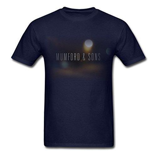 Uomo's Mumford & Sons Rock Band Blake Mills Navy T Shirt X-Large