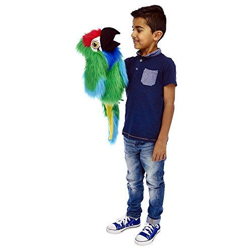 The Puppet Company grandes aves guacamayo Militar–Marioneta de mano