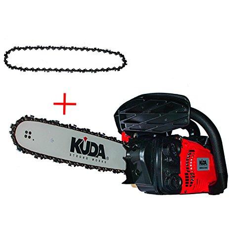 """KUDA 2 Motosierra Podadora de Gasolina 25,4CC Espada 12\""""-30cms 3,45Kg com 1 Cadena Extra"""