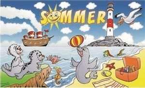 UB Fahne / Flagge Sommer Seehund Strand 90 cm x 150 cm Neuware!!!
