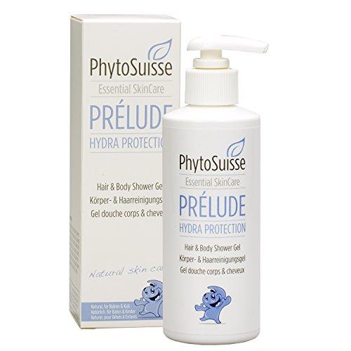 PHYTOSUISSE Prélude Hydra Protection - Shampoo & Duschgel für Babys, Kinder und Allergiker I Vegane Körper- und Kinderpflege bei Neurodermitis & extrem sensibler Haut - 200 ml (Hair & Body Shower Gel)