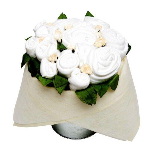 Seau de fleur - Blanc classique