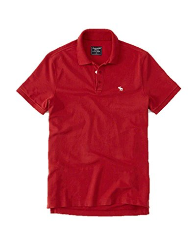 new-abercrombie-fitch-l-large-red-icon-polo-shirt-soft-mens-auth