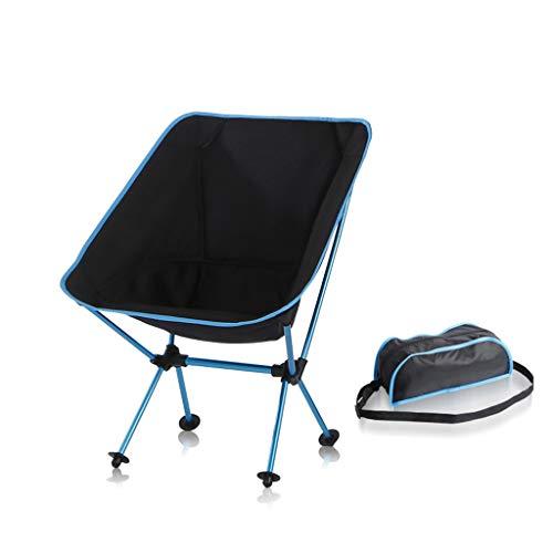 Chaise de pêche Pliante extérieure Ultra Light Portable Moon Chair Aviation Chaise Aluminium Loisirs Croquis Chaise Bleu