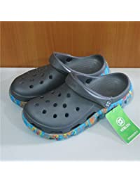 Xing Lin Sandales Pour Hommes Trou De Sport Chaussures Pour Hommes Chaussures De Plage Tendance Jardin Télévision Baotou Chaussures Antidérapantes Pour Hommes Sandales Creux Gris Code 44