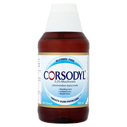 Corsodyl Mouthwash 0.2%,  Chlorhexidine Gum Problem Treatment, Alcohol Free, 300 ml