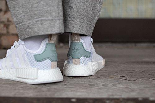 adidas Nmd R1, Sneaker Bas du Cou Femme Blanc