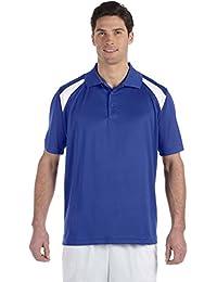 Harriton Men's Polytech Colorblock Polo Shirt. M318