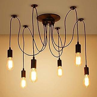 SISVIV Lampadario Vintage Industriale Lampada a Sospensione Lampada per Soffitto Edison per Cucina Sala da Pranzo Soggiorno Bar