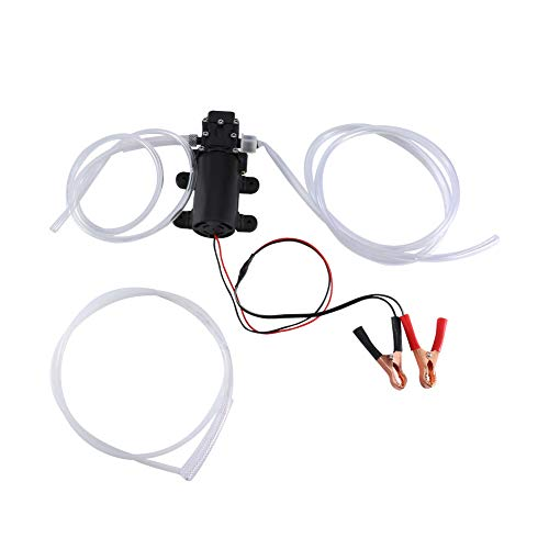 Zerone Kit Membrana Auto Adescante ad Alta Pressione Pompa, Elettrica Pompa di Trasferimento Aspirazione Gasolio per Estrattore Fluido Olio Diesel per Auto/Moto/Veicolo 12 V 60W