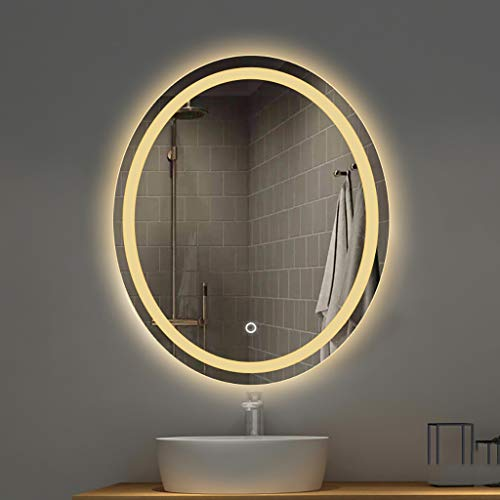 North cool Espejo Elegante para Baño Espejo De Luz Led Espejo Colgante...