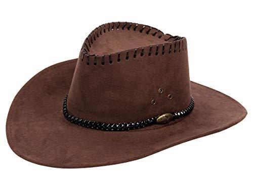 Alsino Cowboyhut Herren Westernhut Braun Damen Cowboy Cowgirl Hut Karneval Fasching (32a)