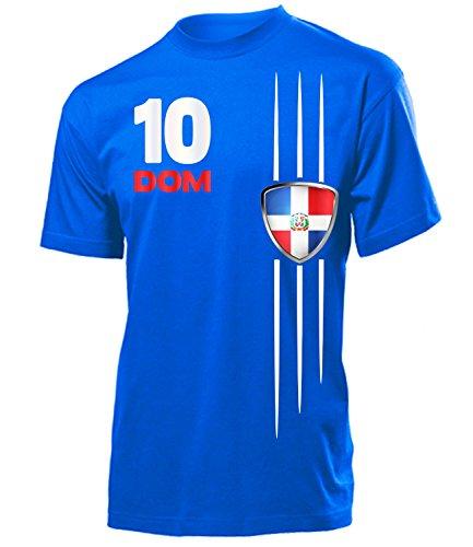 Dominikanische Republik Fanshirt Fan Shirt Tshirt Fanartikel Artikel 5479 Fussball Männer Herren T-Shirts Blau L -