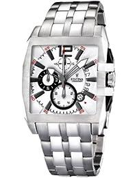 FESTINA F16393/1 - Reloj de caballero de cuarzo, correa de acero inoxidable color plata