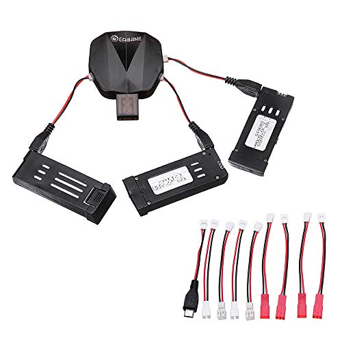 EACHINE E58 RC Original Quadcopter Repuestos Cargadores USB Multifunción y Set de Baterías (3PCS)