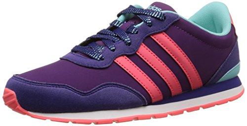 Adidas V Jog K, Scarpe per bambini, Ragazza Tribe Purple S14/Flash Red S15/Clear Aqua