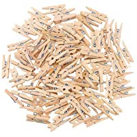 Beauteous-(Pack of 40) Natural Bamboo Cloth Pegs, Wooden Clips, Clips for Decoration, Clips for Art and Craft