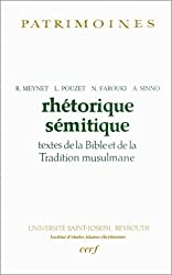 Rhétorique sémitique : Textes de la Bible et de la Tradition musulmane
