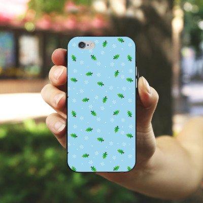 Apple iPhone X Silikon Hülle Case Schutzhülle Tannenbaum Winter Weihnachten Silikon Case schwarz / weiß