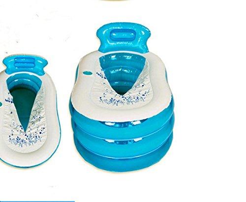 CLG-FLY Aufblasbare Badewanne Badewanne verdickte nach Wanne Kunststoff faltbare Badewanne Whirlpool Badewanne für Kinder barrel Barrel, Große, blau