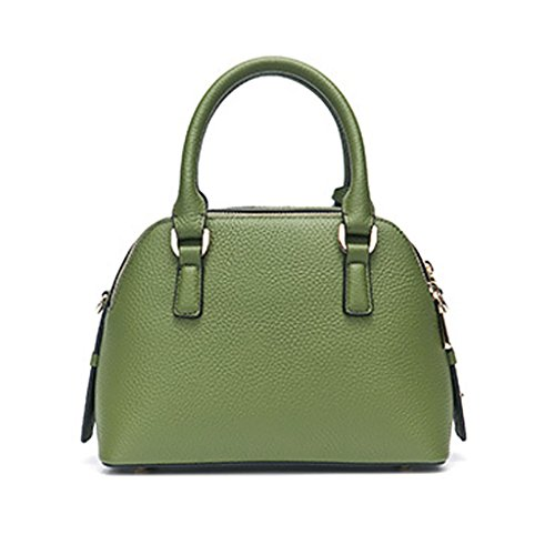 Mena UK Ladies Designer Litchi Grain primo strato di borsa in pelle di grande borsa in pelle borsa a spalla ( Colore : Rosso , dimensioni : 25cm*18cm*13cm ) Verde