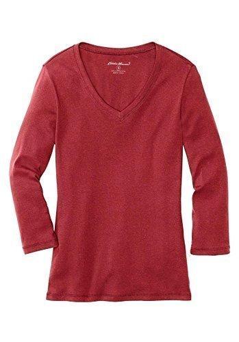 Shirt Langarmshirt 3/ 4 Arm von Eddie Bauer Hellrot
