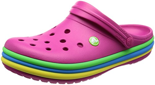 crocs Clogs Crocband Rainbow Band - Candy Pink, Größe:36-37 EU